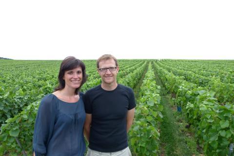 Géraldine Lacourte en Richard Desvignes Champagne Lacourte